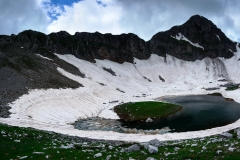 Great Trapos Alpine Lake Panorama